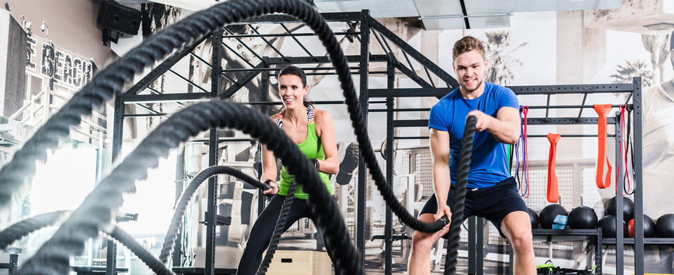 Krafttraining mit dem Battle Rope